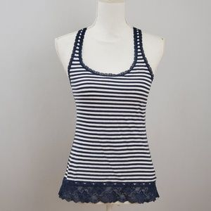 Abercrombie & Fitch Striped Lace Tank